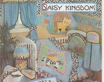 vintage Simplicity House 8397 sewing pattern Daisy Kingdom African safari animals theme baby bedroom set crib wall decor blanket + OOP
