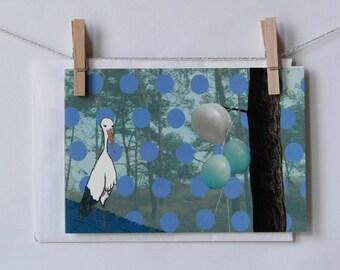 Birth postcard boy