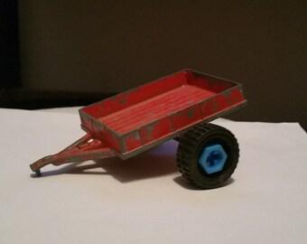 Vintage Hubley red rrailer Kiddie Toy No. 5