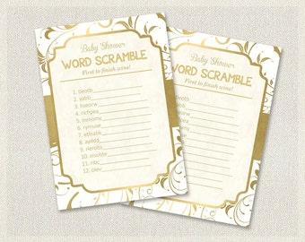 baby shower word scramble pdf