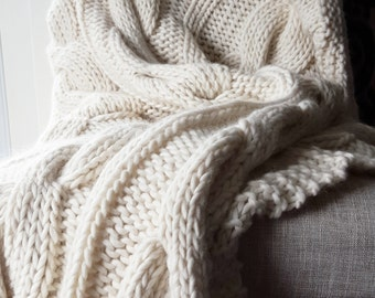 "Merino Wool Blanket, 50""x 60"""