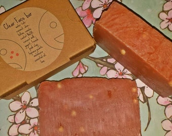 SALE! Face Bar: All natural tea tree oil soap with tapioca pearls **OVER 15% OFF**