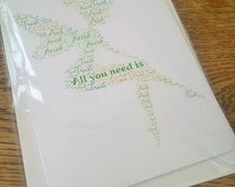 Tinkerbell fairy birthday card word cloud print