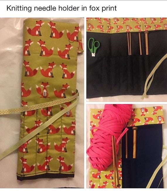 Knitting Wool Holder Hobbycraft : Items similar to knitting needle holder wrap case with