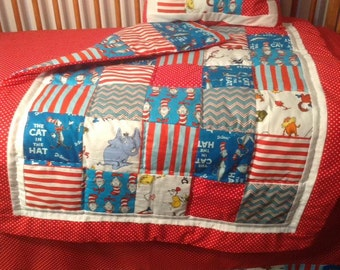 SALE ITEM....Cat In The Hat Crib Bedding