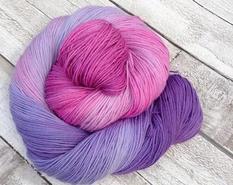 Hand dyed yarn merino/ nylon sock/ Superwash 'Fading hearts' sock yarn/ wool /Uk indie dyer / knitting / crochet / sock weight