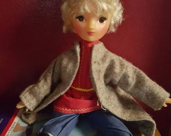 "Vintage swiss German 12"" blonde hair  rope doll"