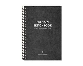 Fashion sketchbook. Men version (without transparent paper)