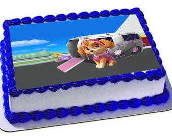 Paw Patrol Skye Cake Topper, Skye Edible Image, Paw Patrol Skye birthday party, Skye Cake Topper, Paw Patrol Skye Frosting sheet