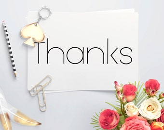 Simple Thanks Card set A2 4x5.5