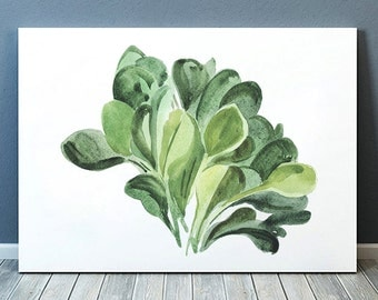 Spinach decor Watercolor poster Food print Kitchen print ACW609
