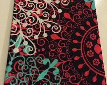Black & floral pocket square