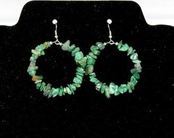 Green Stone Earrings 109