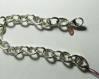 Sterling Silver Chunky Chain Bracelet