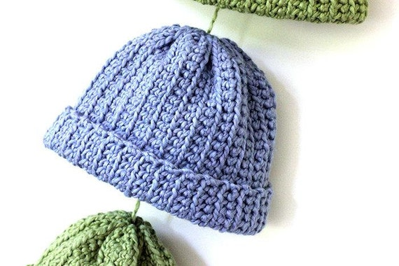 Crochet Ribbed Hat : CROCHET PATTERN Organic Ribbed Baby Hat Size by usCrochetNature