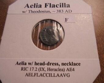 383 A.D. AELIA FLACILLA ANCIENT Coin (Fine)