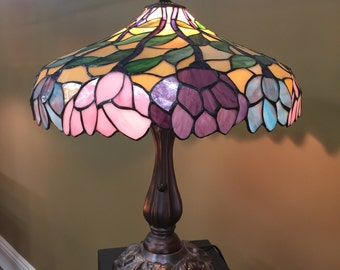 Tiffany Style Floral Stained Glass Lamp