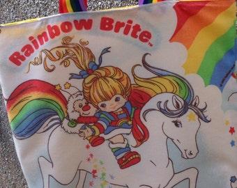 Tote shopping bag rainbow brite
