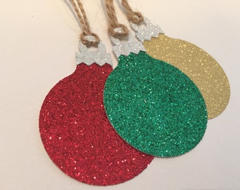 Christmas Ornament Gift Tag