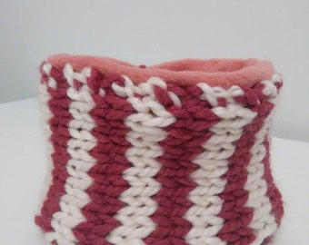Pink & White Child's Neck Warmer