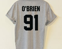 O'BRIEN 91 shirts Dylan O'Brien tshirt hipster street unisex women&men clothing size S36'' M38'' L40'' XL44'' 2XL48''