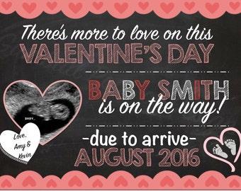 Valentineu0027s Day Pregnancy Announcement