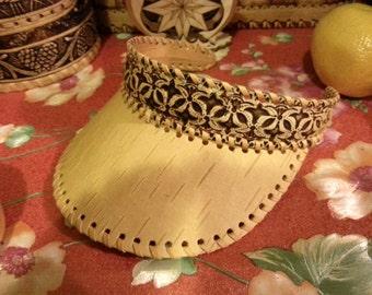 Birchbark sun visor