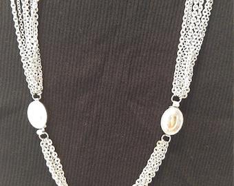Multi-strand Silver Necklace