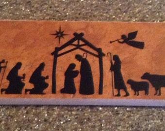 3x12  Nativity Tile Decoration