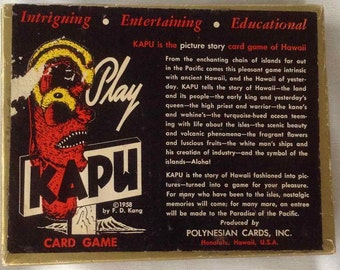 Vintage Kapu Hawaiian Picture Story Card Game - Made in Hawaii - 1958