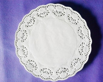 Set of 50 Round Paper Doilies 4.5 inch,7.5 inch,White Paper Doilies, wedding decor