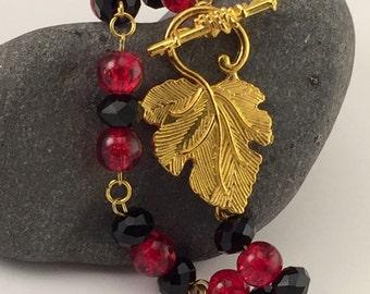 Swarovski Crystal and Glass Bead Bracelet