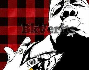 The Biggie R&B Lumberjack Print
