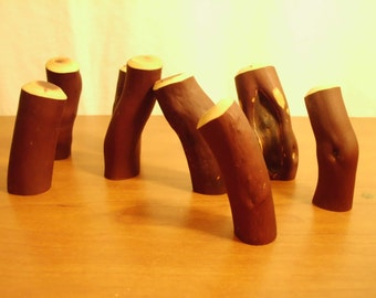 Drawer pull / handle - Set of 8 - Hand Crafted Manzanita natural wood dresser drawer / cabinet pulls