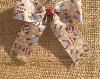 Sock Monkey Back-Pack Bow