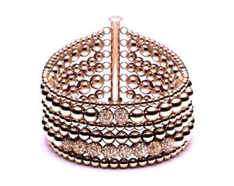 The row • luxury ball bracelet • 6 • Rosé gold
