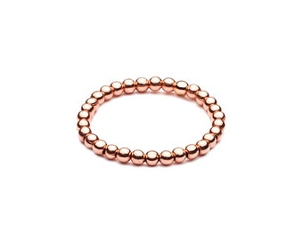 Ball closure rings Elastsich • mini • Rosé gold