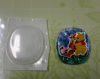 Pendant Plastic Mold, Resin Mold, Soap Mold, polymer clay mold, plaster mold, round mold, oval mold, square mold, basic shape mold