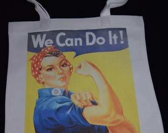 We Can Do It canvas tote bag