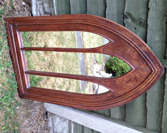 Vintage Gothic Arch Mirror, Church Mirror, Gothic Mirror, Arch Mirror, Large Triple Mirror, Decorative Gothic Mirror
