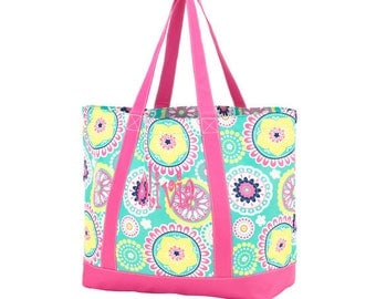 Monogrammed Girl's Tote/ Beach Bag/ Beach Tote/ Pool Bag/ Summer Bag