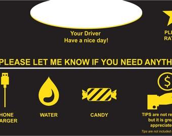 Uber Driver Sign