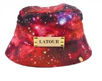 Galaxy Bucket Cap in Red