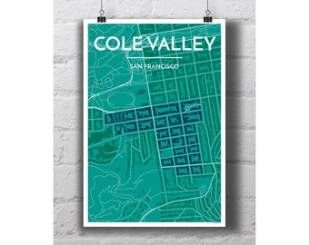 Cole Valley - San Francisco City Map Print