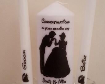 Disney Cinderella silhouette wedding candle unity gift set