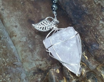 Clear Quartz Wire Wrapped Pendulum/Pendant
