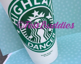 Highland Dancer Coffee Cup