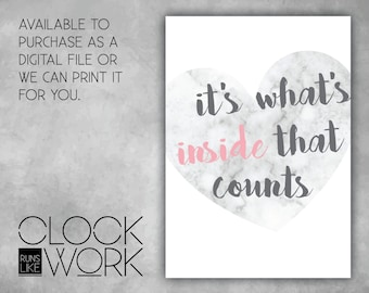 Wall Art, Prints, Home Decor, Nursery Prints, Printed or Digital File Available, It's what's inside that counts