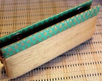 Handmade Clutch Royal Green
