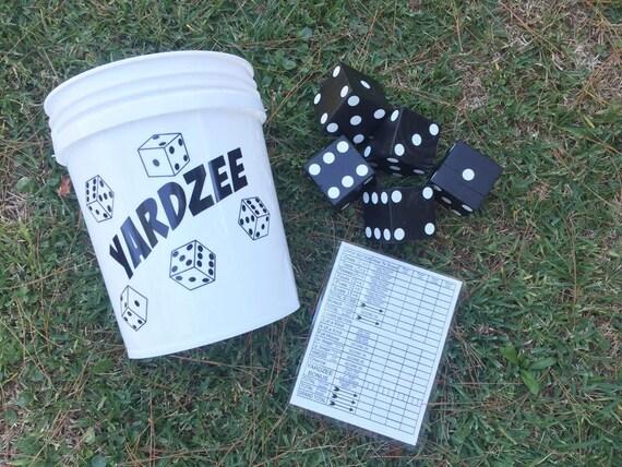Yardzee Large Scale Outdoor Yahtzee Dice Game
